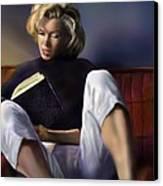 Norma Jeane Baker Canvas Print by Reggie Duffie