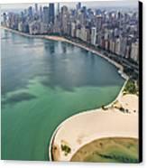 North Avenue Beach Chicago Aerial Canvas Print by Adam Romanowicz