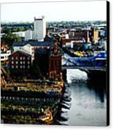 North Bridge Kingston Upon Hull Canvas Print by Anthony Bean