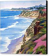 North County Coastline Revisited Canvas Print by Mary Helmreich