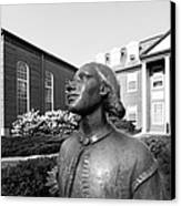 North Park College Nyvall Hall Sculpture Canvas Print
