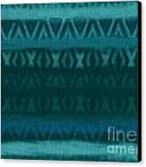 Northern Teal Weave Canvas Print by CR Leyland