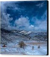 Northern View From Horsetooth Reservoir Canvas Print by Harry Strharsky