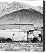 Not In Service Bw Palm Springs Canvas Print by William Dey