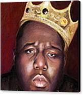 Notorious Big Portrait - Biggie Smalls - Bad Boy - Rap - Hip Hop - Music Canvas Print