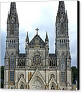 Notre Dame De Montligeon Basilica Canvas Print by Olivier Le Queinec