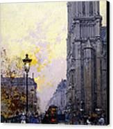 Notre Dame De Paris Canvas Print by Eugene Galien-Laloue