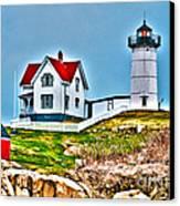 Nubble Lighthouse Cape Neddick Maine 2 Canvas Print