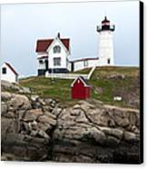 Nubble Lighthouse Cape Neddick Maine 4 Canvas Print by Glenn Gordon