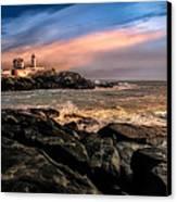 Nubble Lighthouse Winter Solstice Sunset Canvas Print