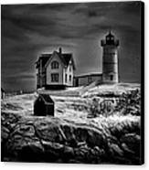 Nubble Night Canvas Print by Tricia Marchlik