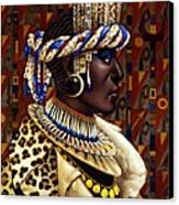 Nubian Prince Canvas Print by Jane Whiting Chrzanoska