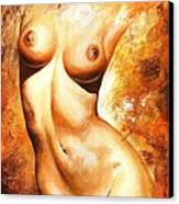 Nude Details Canvas Print by Emerico Imre Toth