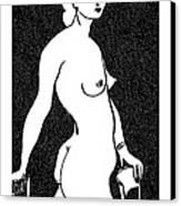 Nude Sketch 4 Canvas Print