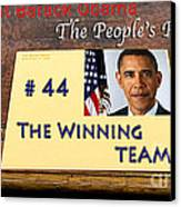 Number 44 - The Winning Team Canvas Print