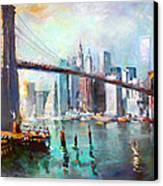 Ny City Brooklyn Bridge II Canvas Print