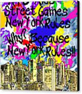 Nyc Kids' Street Games Poster Canvas Print