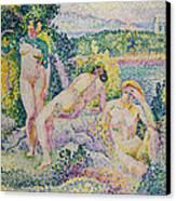 Nymphs Canvas Print by Henri Edmond Cross