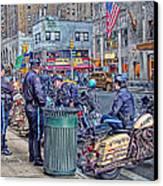 Nypd Highway Patrol Canvas Print