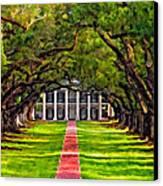 Oak Alley Paint Version Canvas Print by Steve Harrington