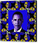 Obama Abstract Window 20130202m118 Canvas Print by Wingsdomain Art and Photography