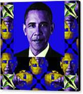 Obama Abstract Window 20130202verticalm118 Canvas Print by Wingsdomain Art and Photography