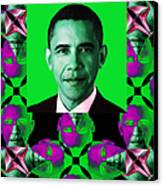 Obama Abstract Window 20130202verticalp128 Canvas Print by Wingsdomain Art and Photography
