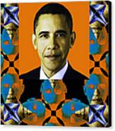 Obama Abstract Window 20130202verticalp28 Canvas Print by Wingsdomain Art and Photography