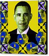 Obama Abstract Window 20130202verticalp55 Canvas Print