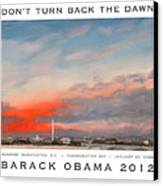 Obama Campaign Poster 2012 Canvas Print by William Van Doren