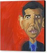 Obama Caricature Canvas Print by Isaac Walker