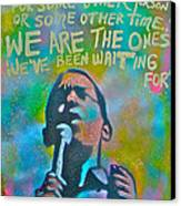 Obama In Living Color Canvas Print