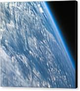 Oblique Shot Of Earth Canvas Print by Adam Romanowicz