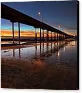 Ocean Beach California Pier 4 Canvas Print by Larry Marshall
