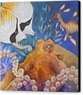 Ocean Hang Out Canvas Print by Summer Celeste