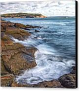 Ocean On The Rocks Canvas Print by Jon Glaser