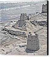 Ocean Sandcastles Canvas Print by Betsy Knapp