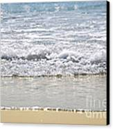Ocean Shore With Sparkling Waves Canvas Print