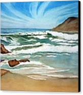 Ocean Side Canvas Print by Rick Huotari