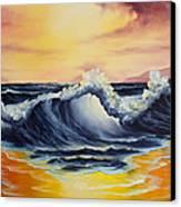 Ocean Sunset Canvas Print by C Steele