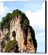 Ocean Wall- Phi Phi Island - Krabi Thailand- Viator's Agonism Canvas Print