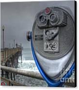 Oceanside Pier California Binocular Vision Canvas Print