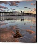 Oceanside Pier Seaweed Canvas Print