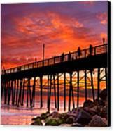 Oceanside Sunset 12 Canvas Print