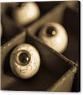 Oddities Fake Eyeballs Canvas Print by Edward Fielding
