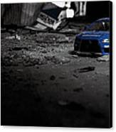 Off Road Rally Blue Canvas Print