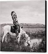 Oglala Indian Man Circa 1905 Canvas Print by Aged Pixel