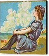 Oh Be My Valentine Postcard Canvas Print