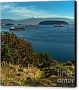 Oil Tankers Waiting Canvas Print by Robert Bales