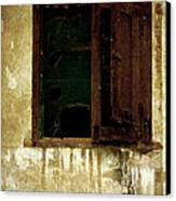 Old And Decrepit Window Canvas Print